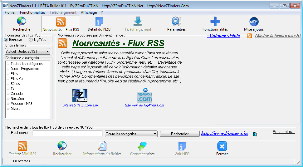 Flux rss de binnews